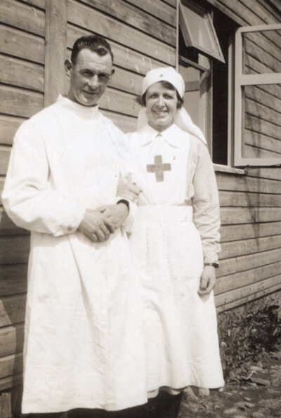 Image of nurse and doctor during World War 2