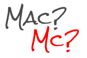 Image showing the words Mac and Mc