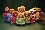 Image of a family of gingerbread figures