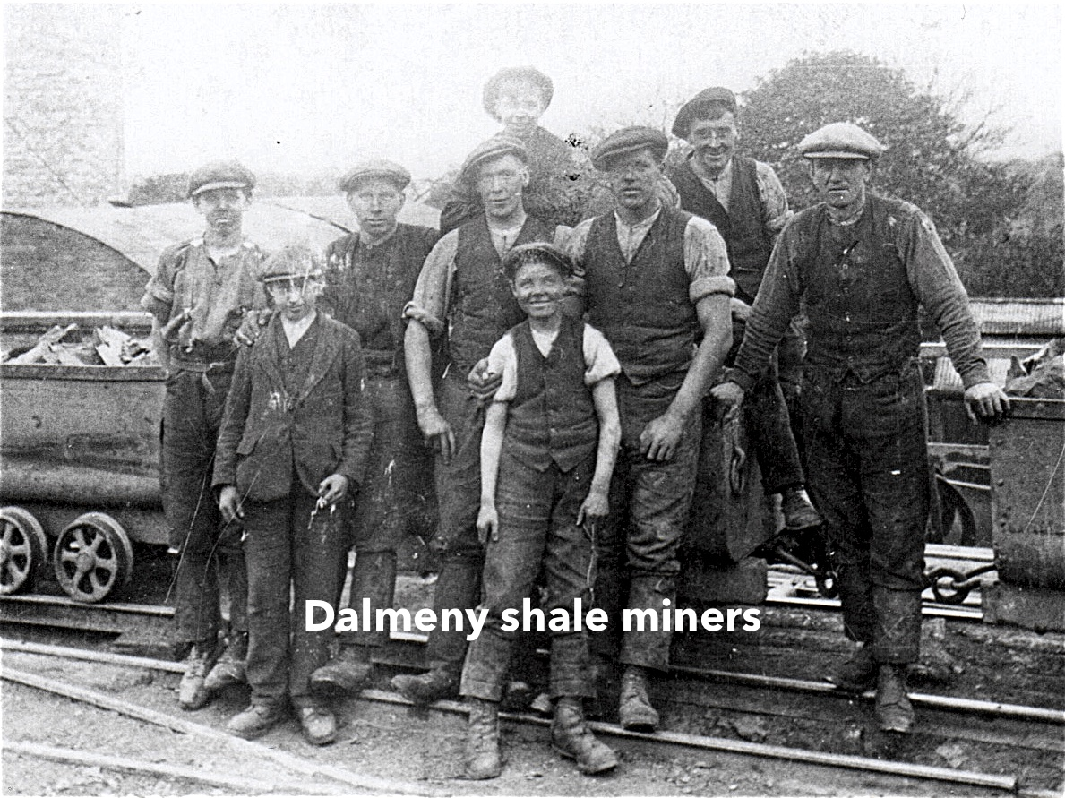 Photograph of Dalmeny shale miners