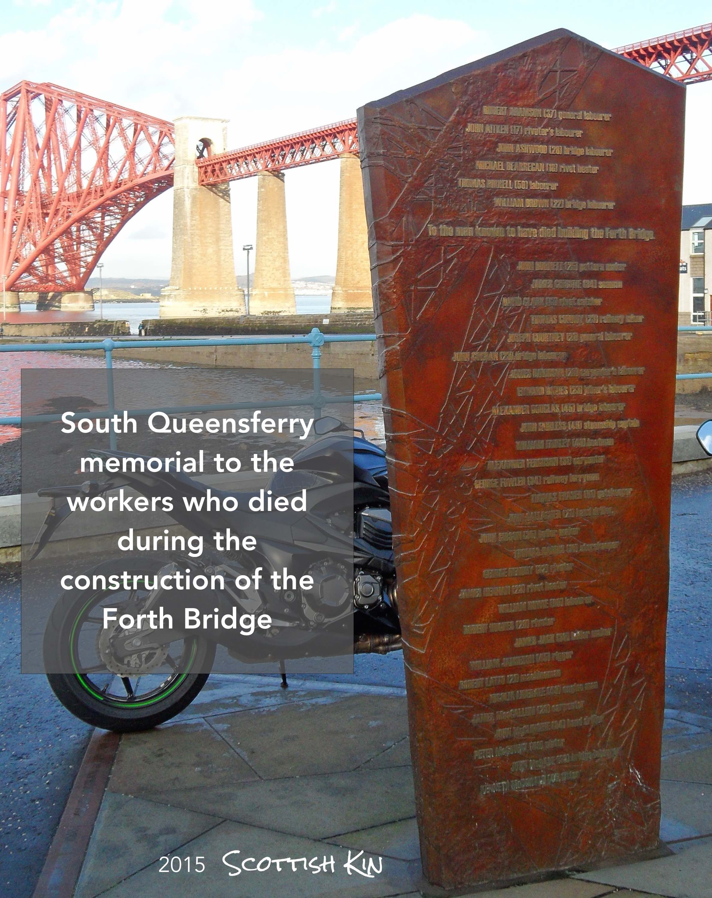 Image of the memorial to the workers who died during the construction of the Bridge