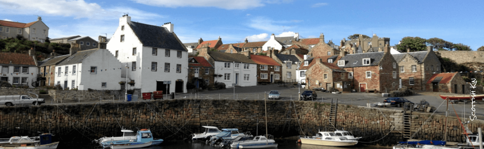 Image of Crail Harbour with old houses