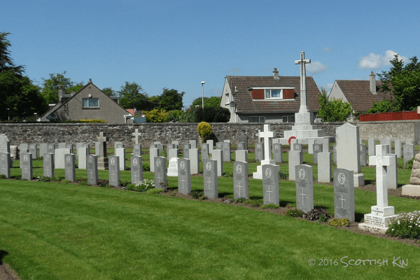 View of Commonwealth War Graves in Queensferry Cemetery